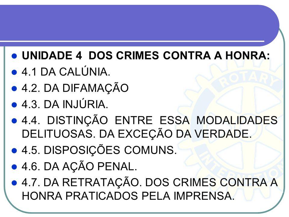 UNIDADE 4 DOS CRIMES CONTRA A HONRA: