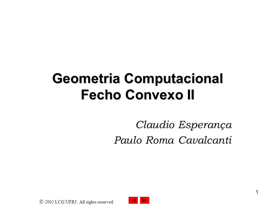 Geometria Computacional Fecho Convexo II