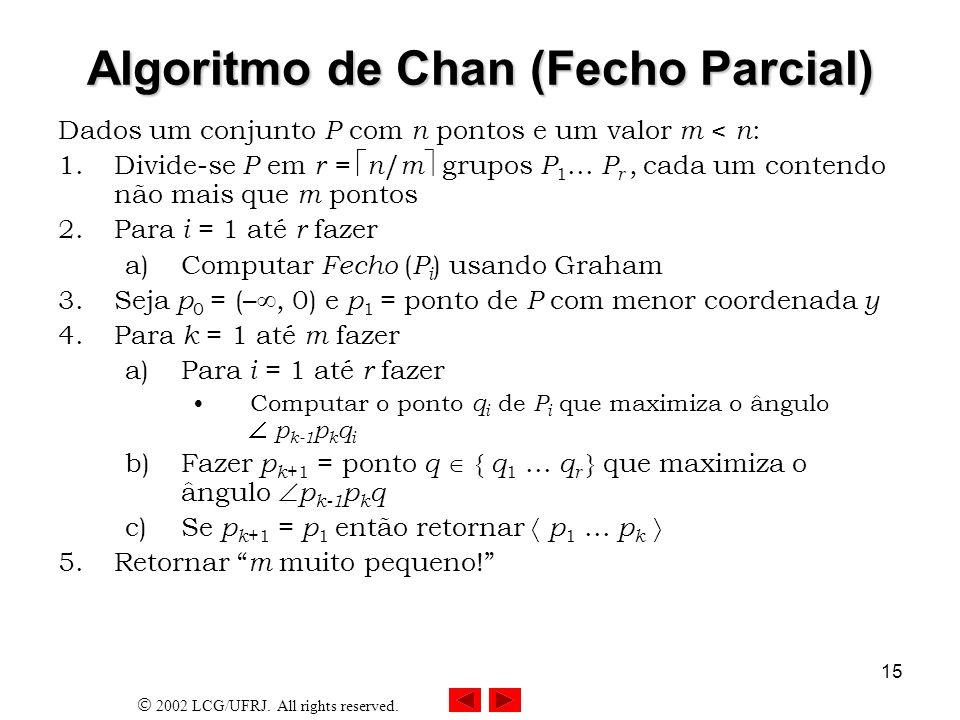 Algoritmo de Chan (Fecho Parcial)