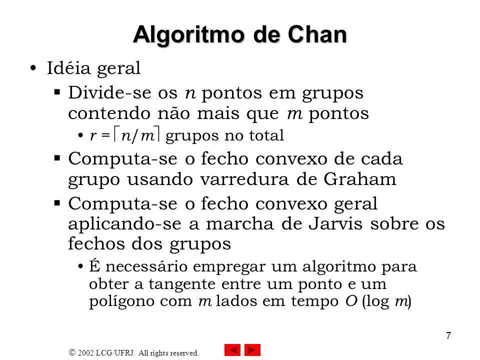 Algoritmo de Chan Idéia geral