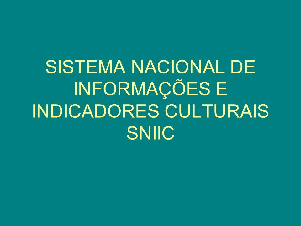 SISTEMA NACIONAL DE INFORMAÇÕES E INDICADORES CULTURAIS SNIIC