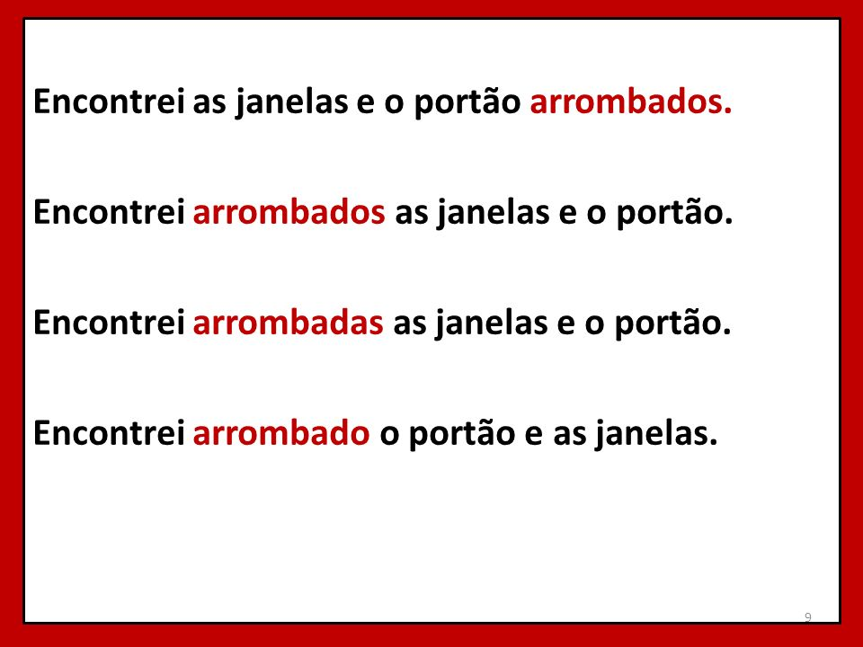 Encontrei as janelas e o portão arrombados