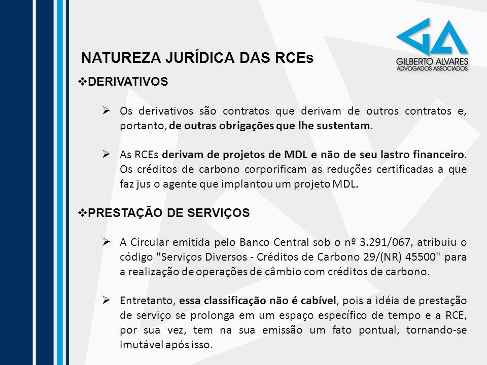 NATUREZA JURÍDICA DAS RCEs