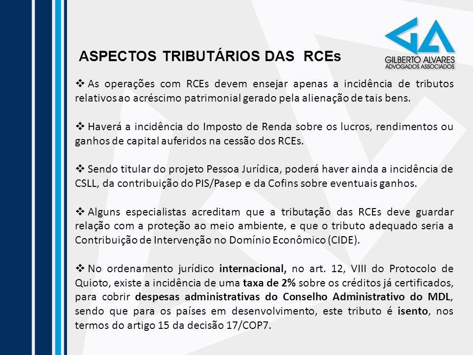 ASPECTOS TRIBUTÁRIOS DAS RCEs