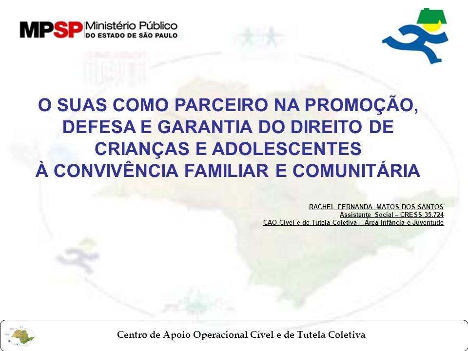 À CONVIVÊNCIA FAMILIAR E COMUNITÁRIA