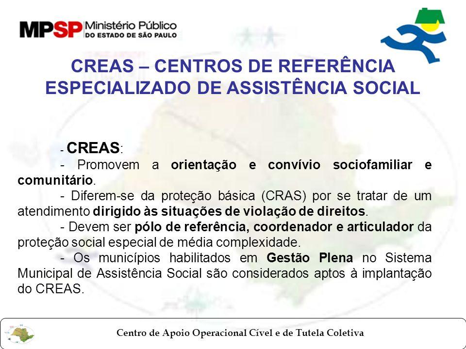 CREAS – CENTROS DE REFERÊNCIA ESPECIALIZADO DE ASSISTÊNCIA SOCIAL