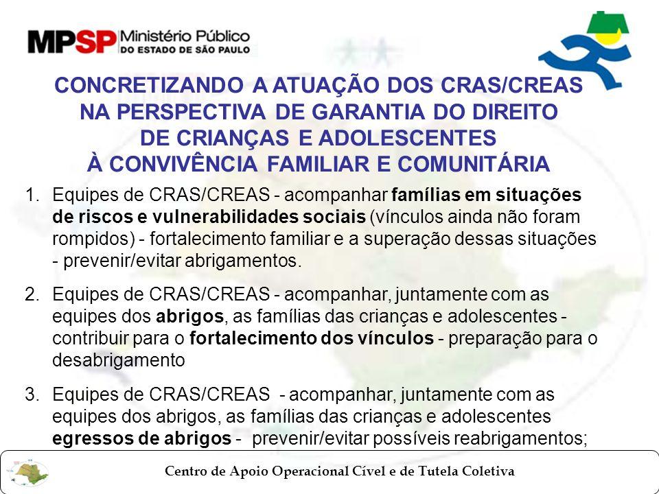 CONCRETIZANDO A ATUAÇÃO DOS CRAS/CREAS