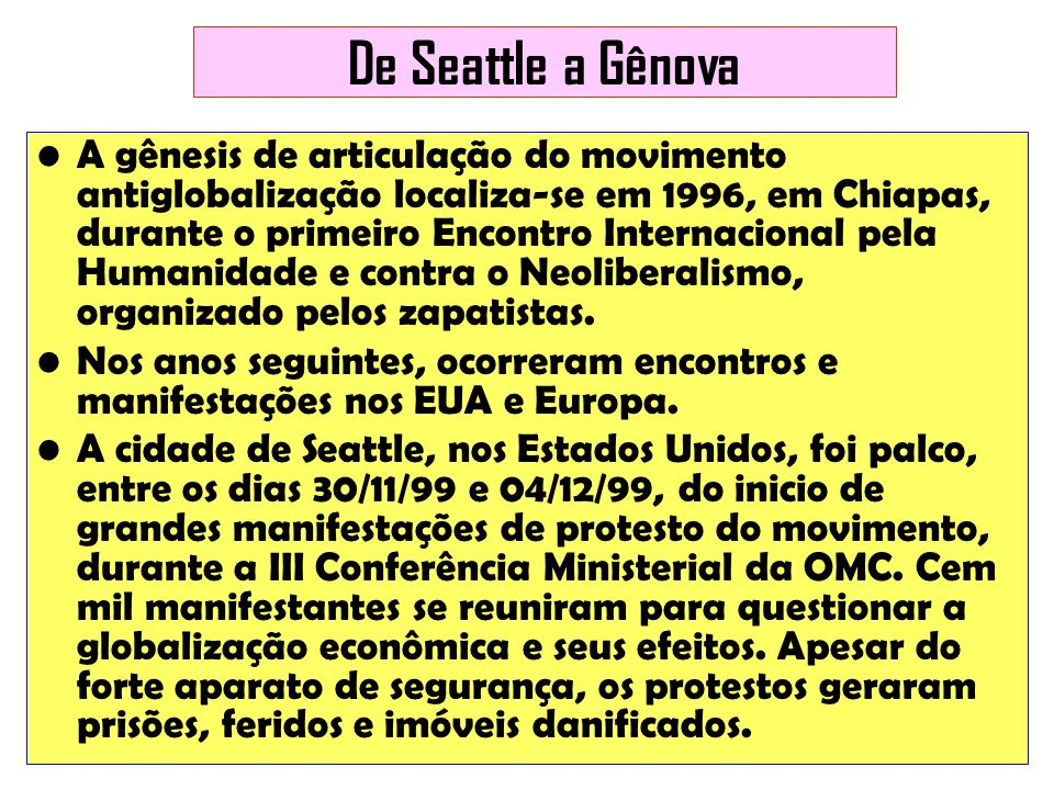 De Seattle a Gênova