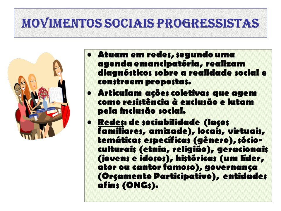 Movimentos sociais progressistas