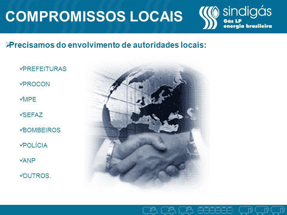 COMPROMISSOS LOCAIS Precisamos do envolvimento de autoridades locais: