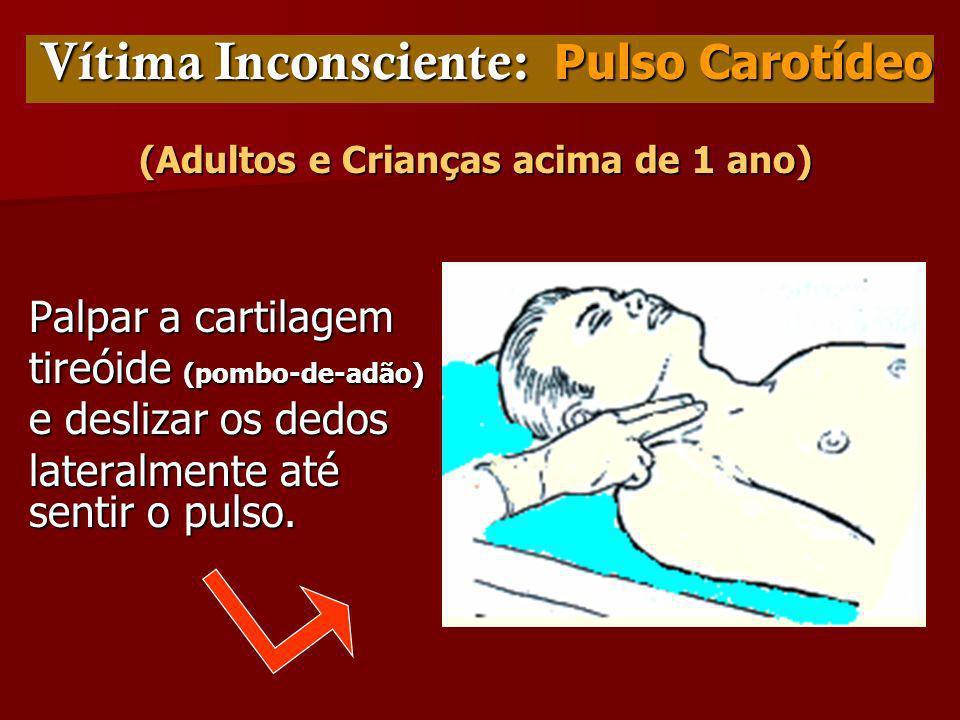 Vítima Inconsciente: Pulso Carotídeo