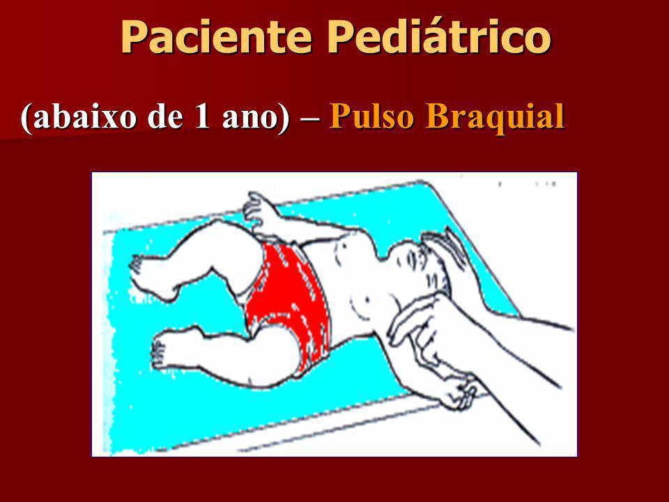 Paciente Pediátrico (abaixo de 1 ano) – Pulso Braquial