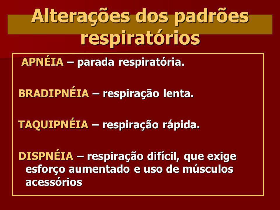 Alterações dos padrões respiratórios