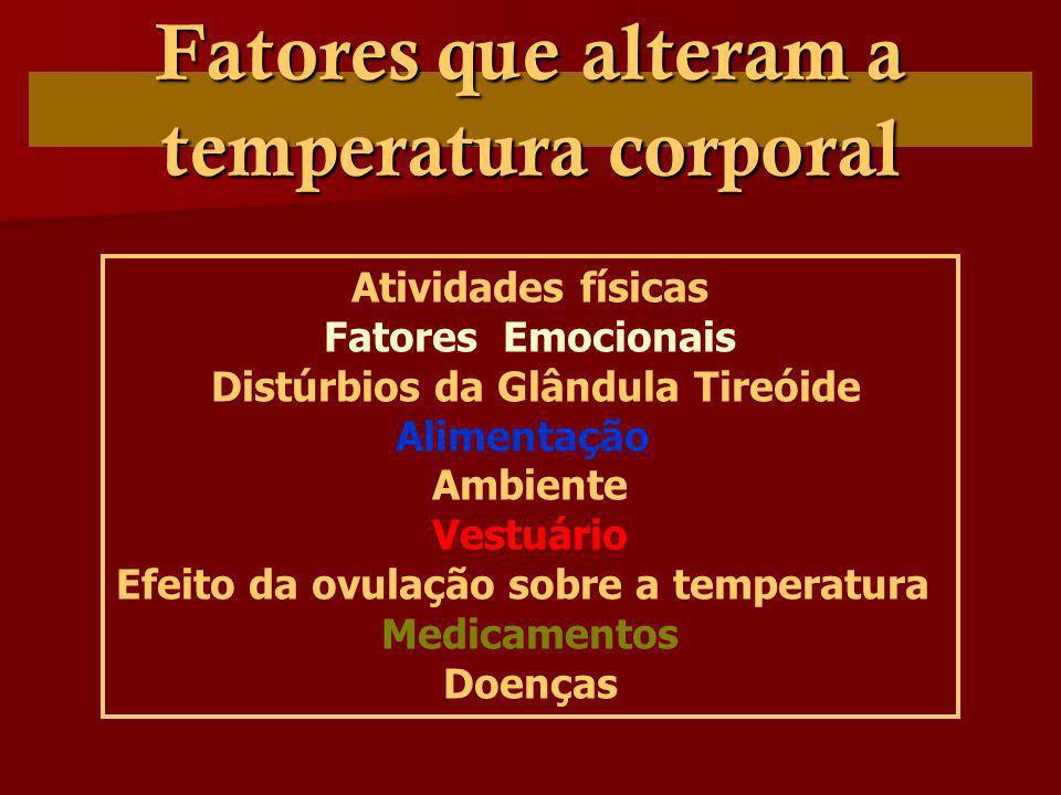 Fatores que alteram a temperatura corporal