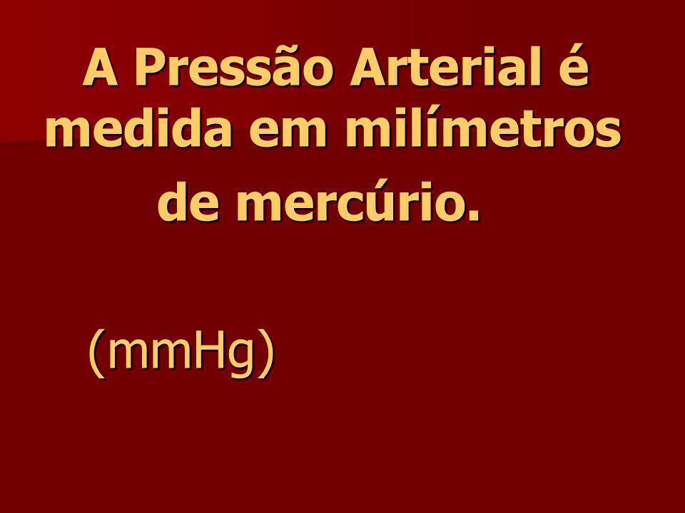 A Pressão Arterial é medida em milímetros