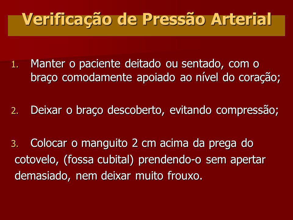 Verificação de Pressão Arterial
