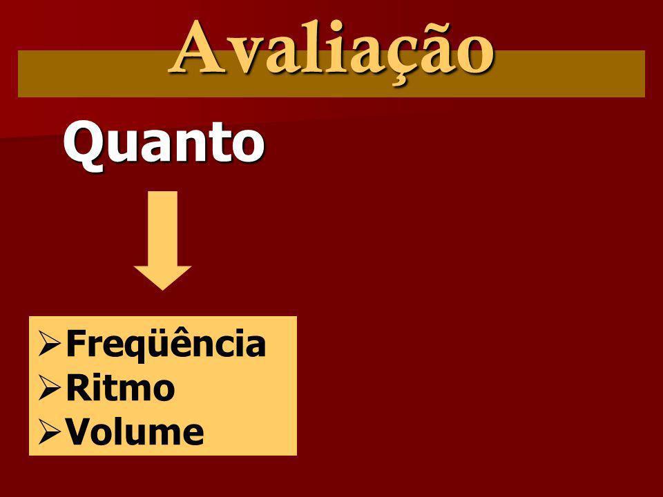 Avaliação Quanto Freqüência Ritmo Volume