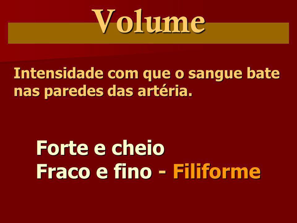 Volume Forte e cheio Fraco e fino - Filiforme