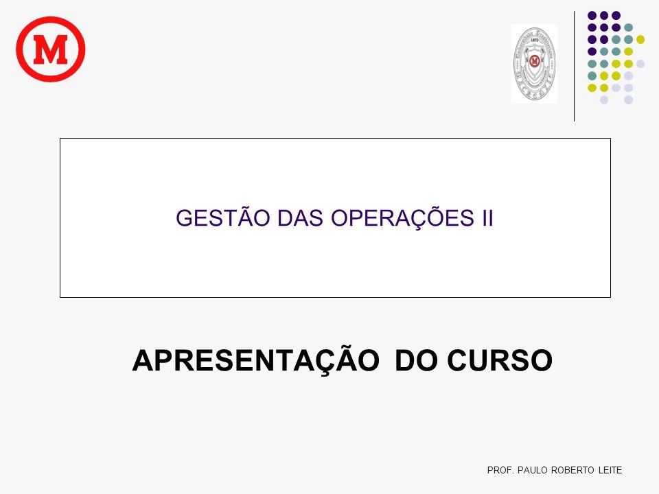 GESTÃO DAS OPERAÇÕES II
