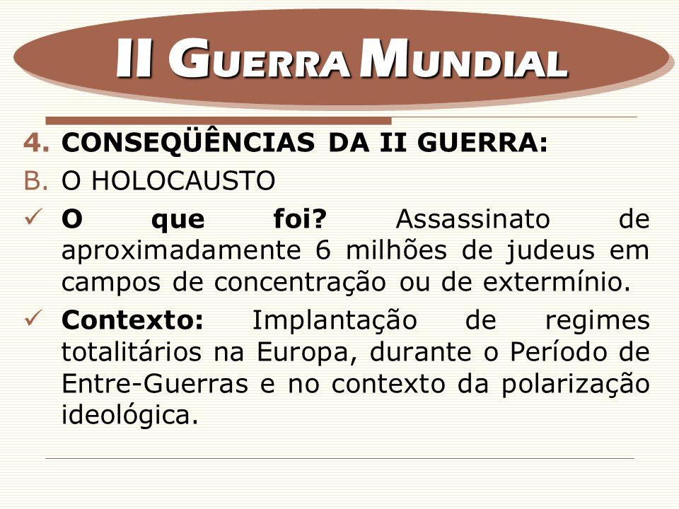II GUERRA MUNDIAL CONSEQÜÊNCIAS DA II GUERRA: O HOLOCAUSTO