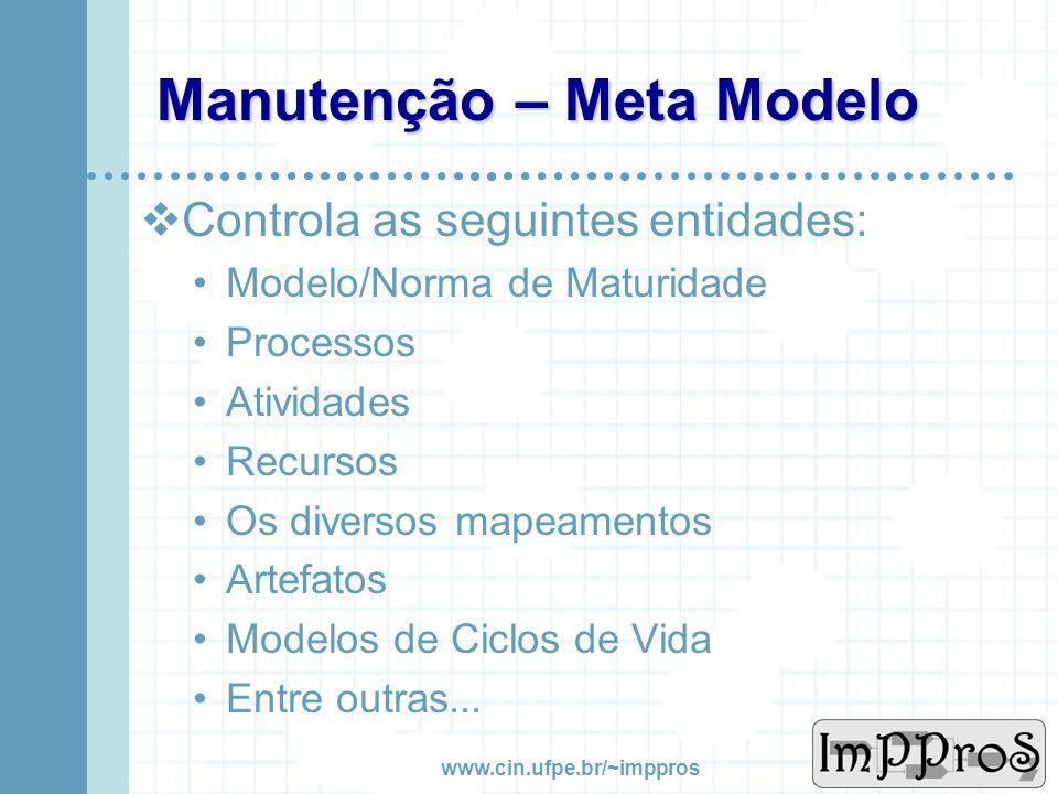 Manutenção – Meta Modelo