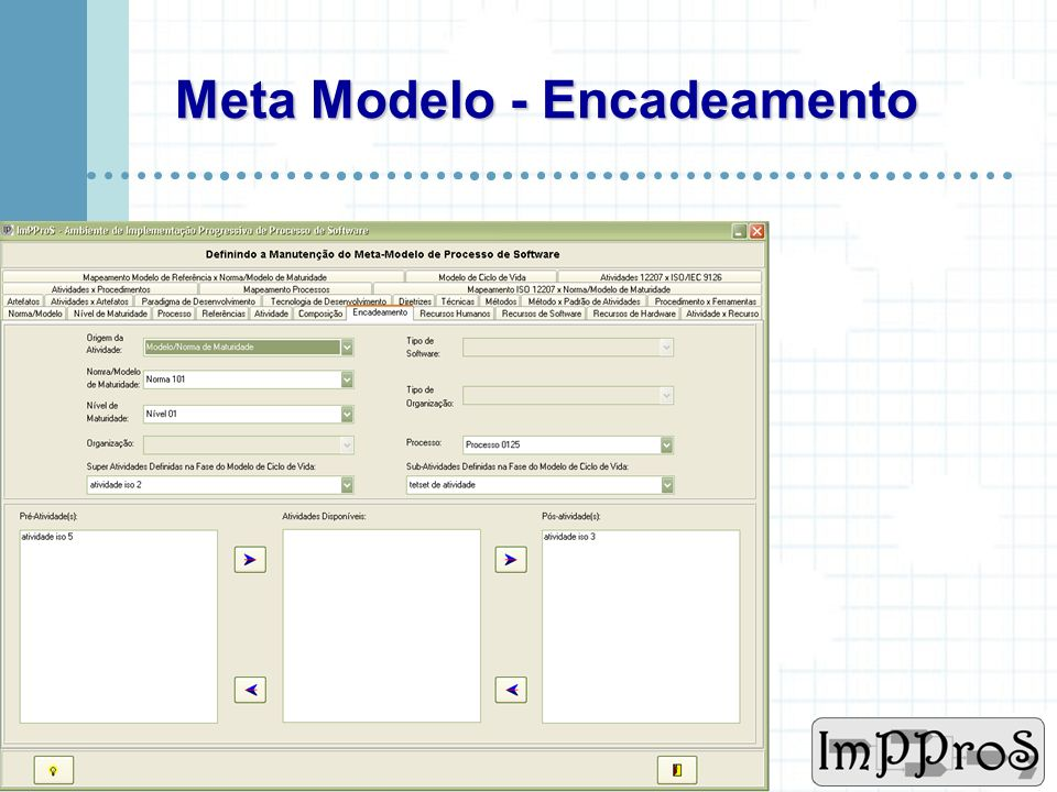 Meta Modelo - Encadeamento
