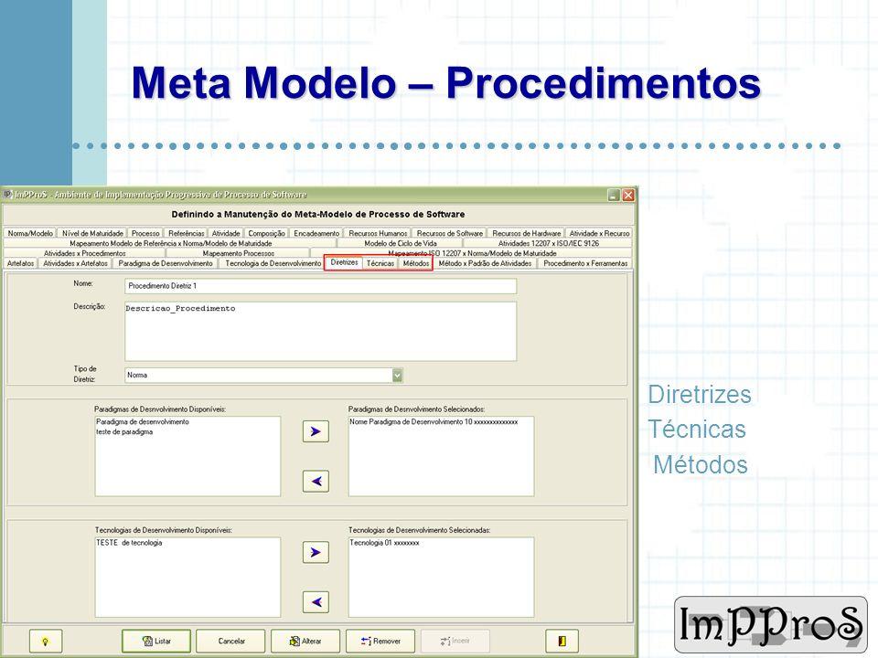 Meta Modelo – Procedimentos