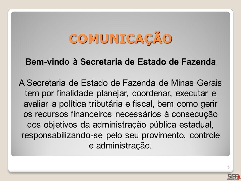 Bem-vindo à Secretaria de Estado de Fazenda