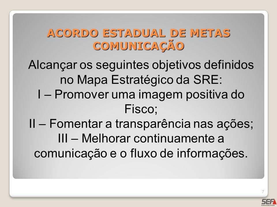 ACORDO ESTADUAL DE METAS COMUNICAÇÃO