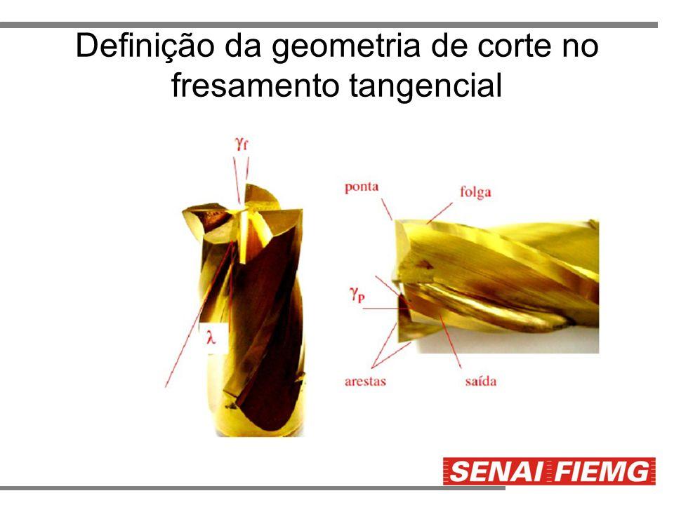 Definição da geometria de corte no fresamento tangencial