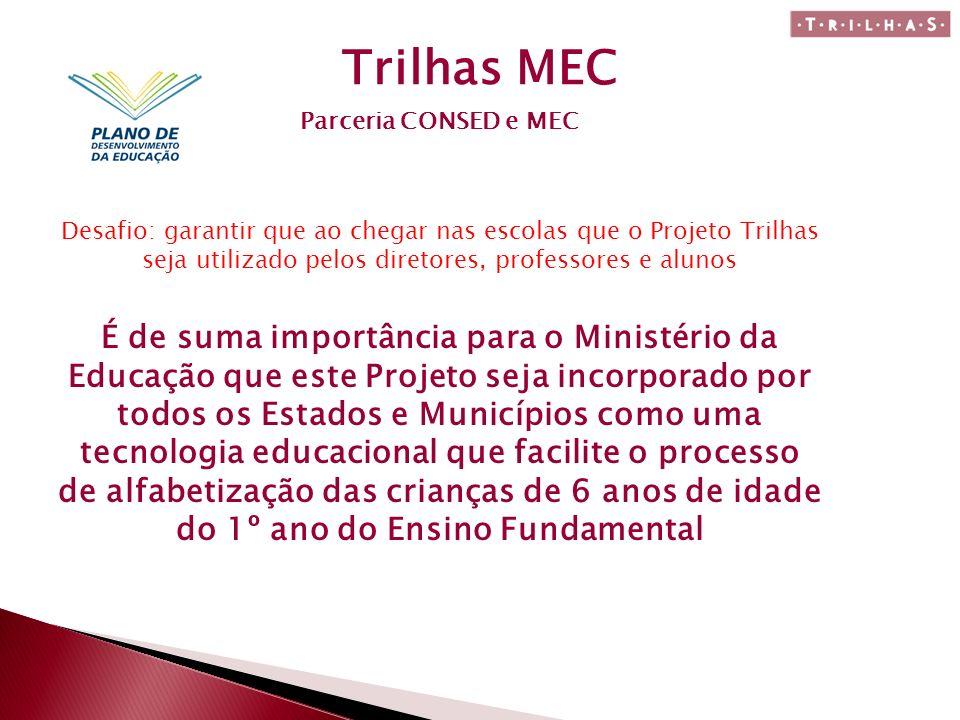 Trilhas MEC Parceria CONSED e MEC.