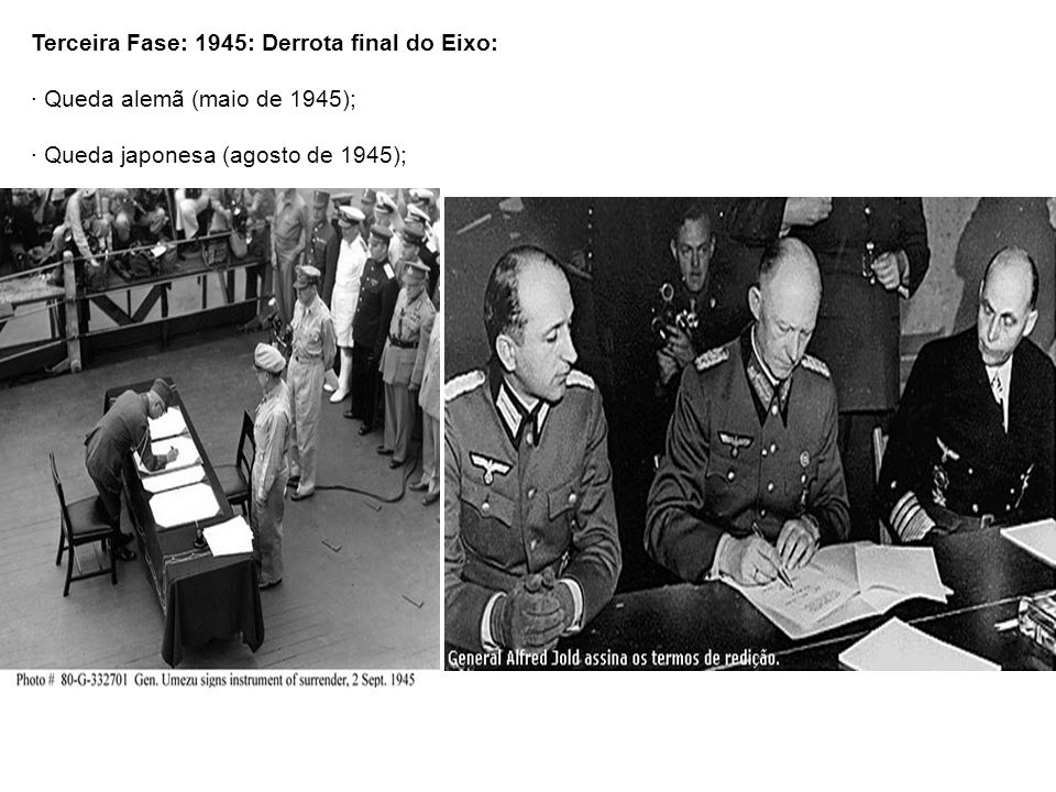 Terceira Fase: 1945: Derrota final do Eixo:
