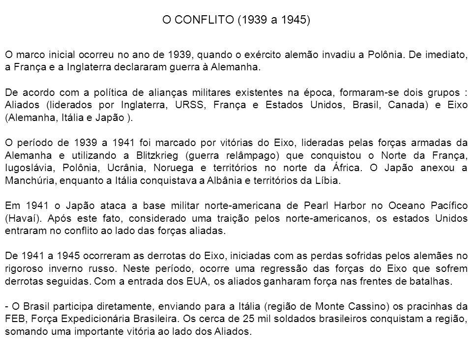 O CONFLITO (1939 a 1945)