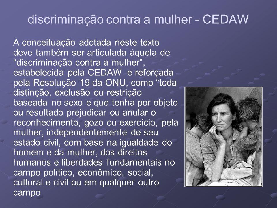 discriminação contra a mulher - CEDAW