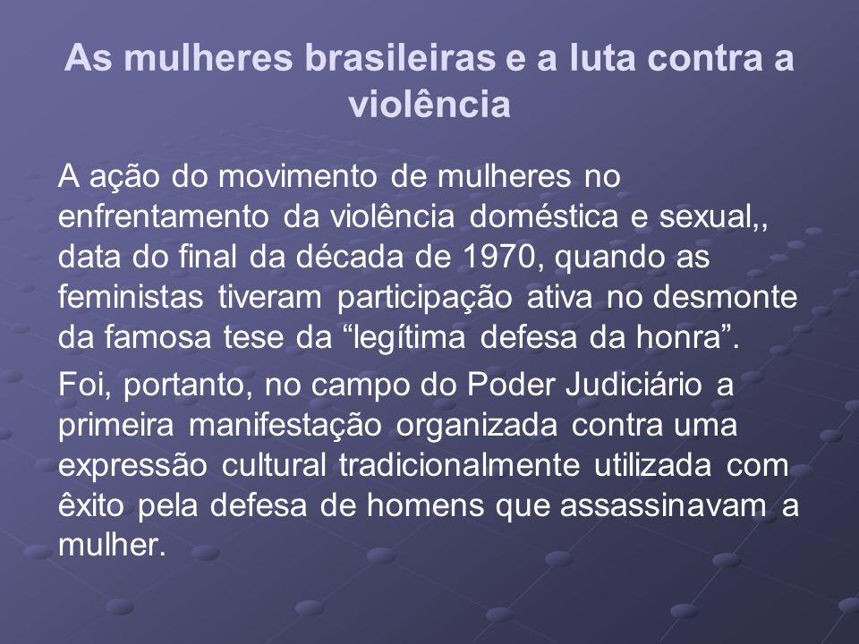 As mulheres brasileiras e a luta contra a violência