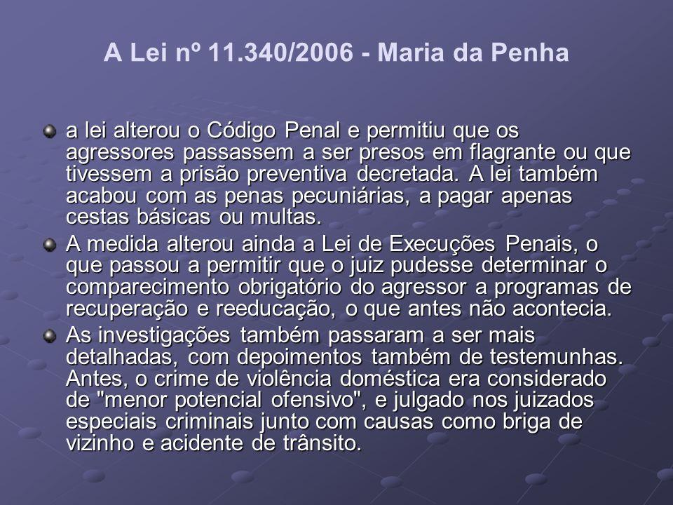 A Lei nº 11.340/2006 - Maria da Penha
