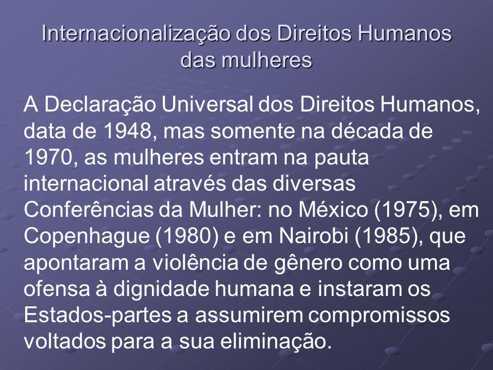 Internacionalização dos Direitos Humanos das mulheres