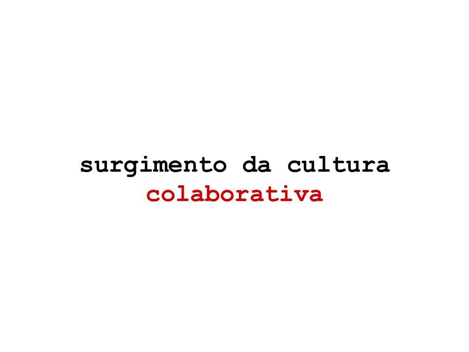 surgimento da cultura colaborativa