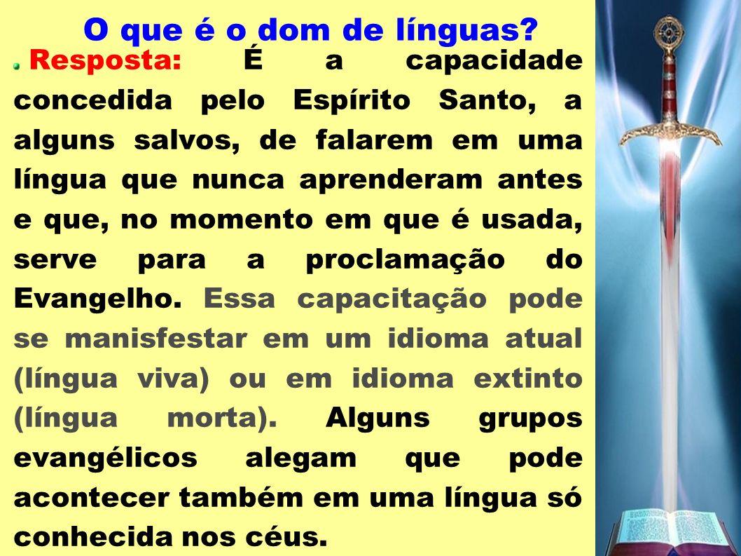O que é o dom de línguas