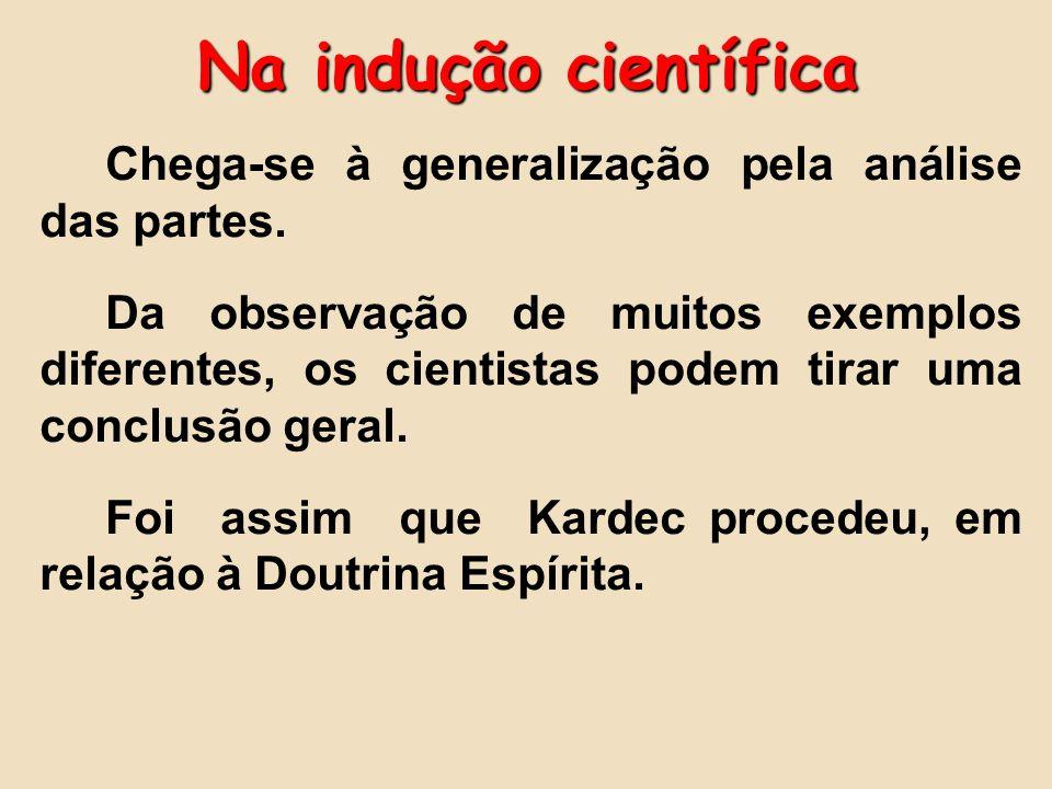 Na indução científica