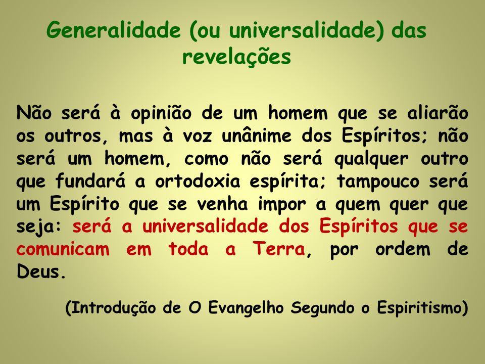 Generalidade (ou universalidade) das revelações