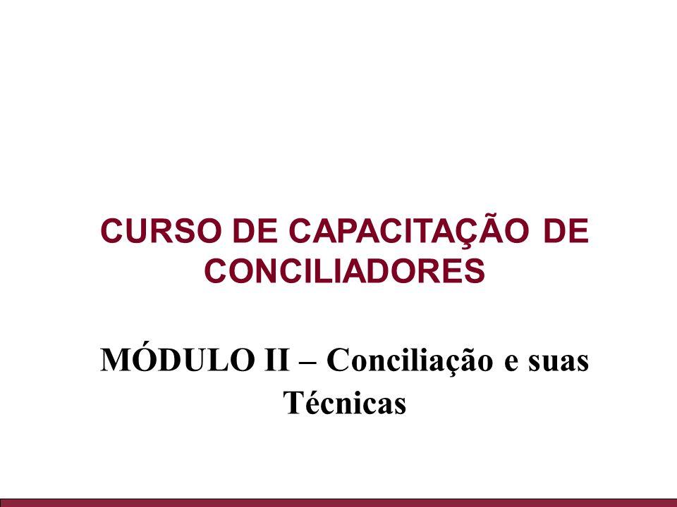 CURSO DE CAPACITAÇÃO DE CONCILIADORES
