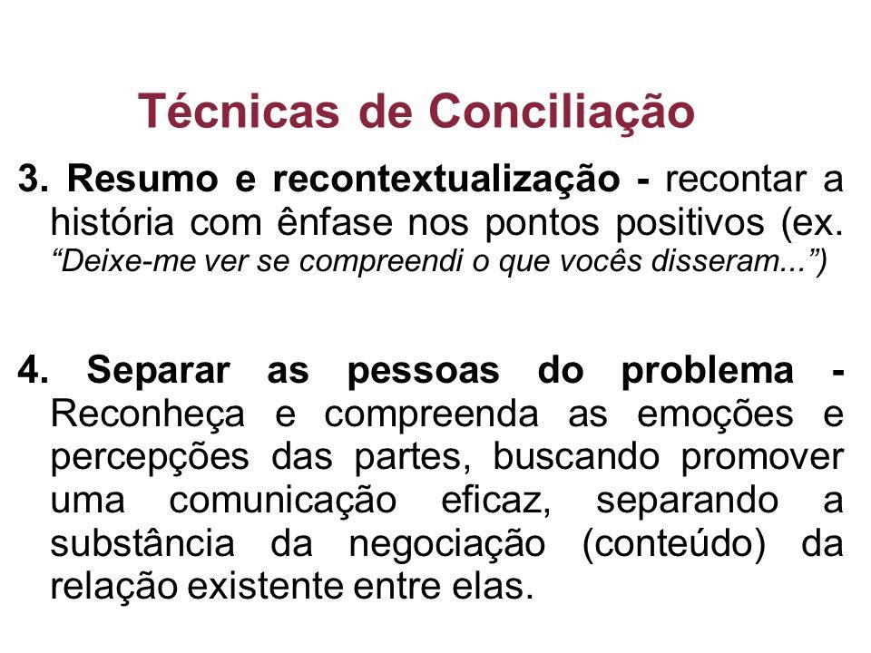 Técnicas de Conciliação