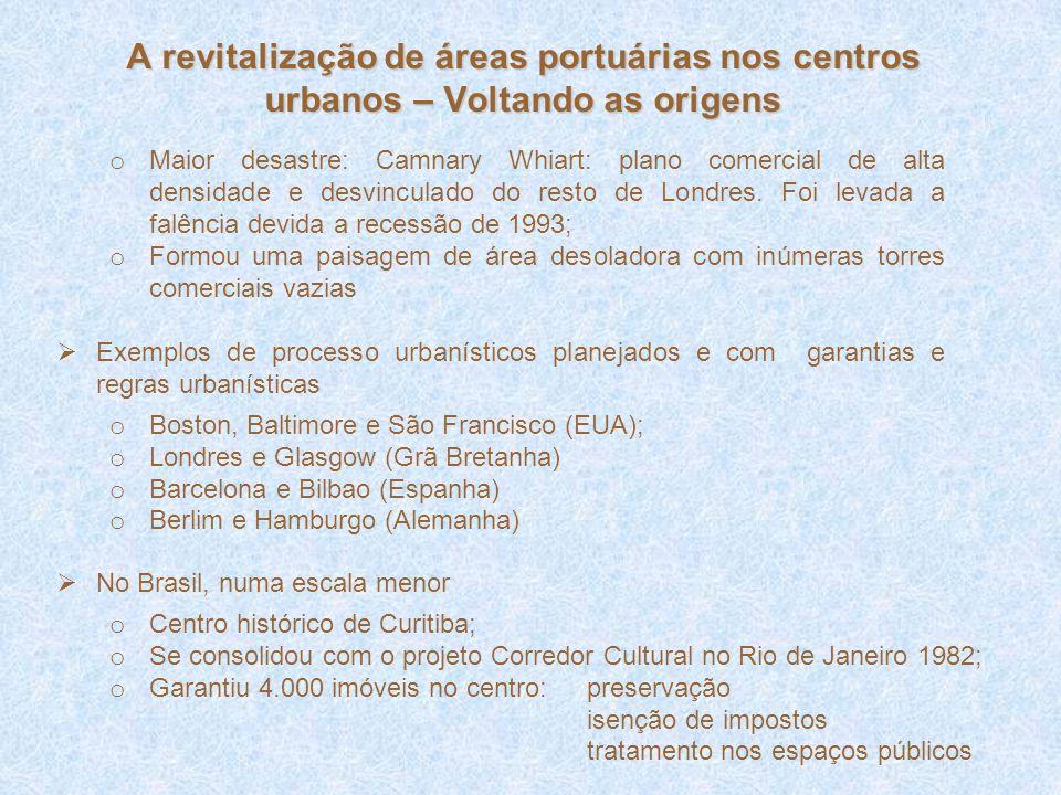 A revitalização de áreas portuárias nos centros urbanos – Voltando as origens