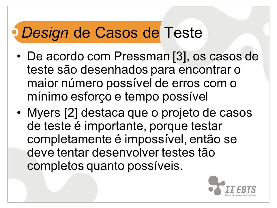 Design de Casos de Teste