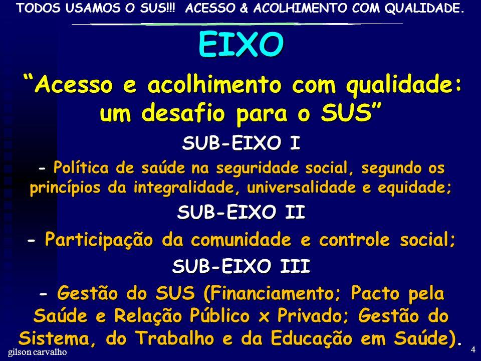 EIXO SUB-EIXO I SUB-EIXO II