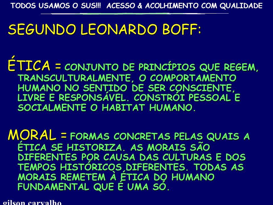 SEGUNDO LEONARDO BOFF: