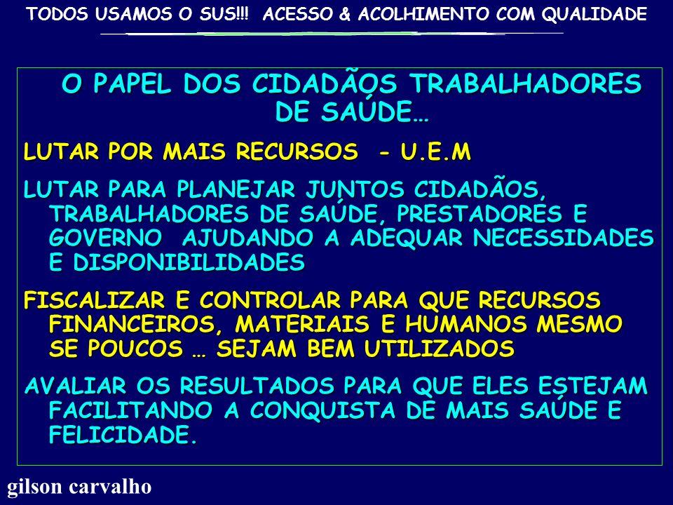 O PAPEL DOS CIDADÃOS TRABALHADORES DE SAÚDE…