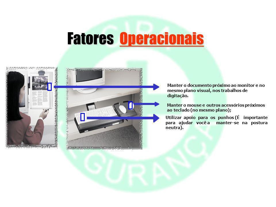 Fatores Operacionais Ê Ë Ì Manter o documento próximo ao monitor e no