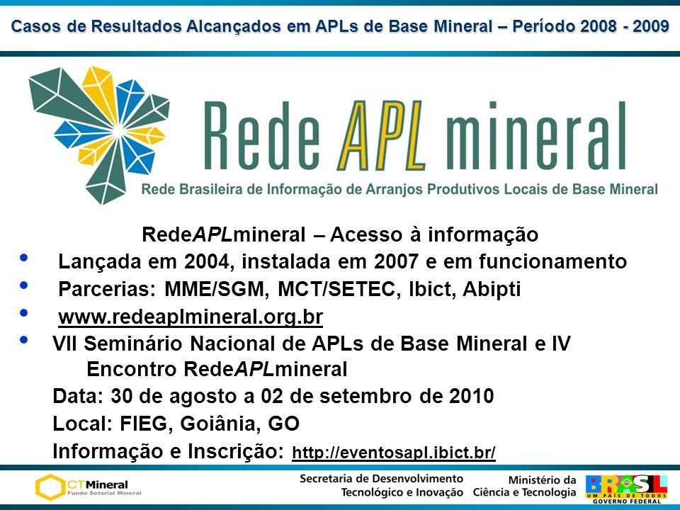 RedeAPLmineral – Acesso à informação